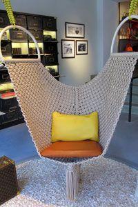 Relax in a Hammock Bed, Chair, or Swing. Hammock Swing, Hammock Chair, Swinging Chair, Hammocks, Macrame Art, Macrame Projects, Macrame Knots, Macrame Chairs, Micro Macramé