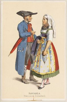 German Costumes - Bavaria Franconian. Repinned by www.mygrowingtraditions.com