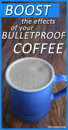 This recipe is for bulletproof coffee with a twist! An added ingredient (gelatin) and a strategic ratio of butter to coconut oil boost this coffee so that it promotes muscle building and weight loss! It tastes amazing too!