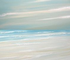 Beach ocean painting art print seascape painting by FradetFineArt