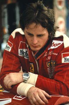 Gilles Villeneuve w/ Heuer Chronosplit LCD