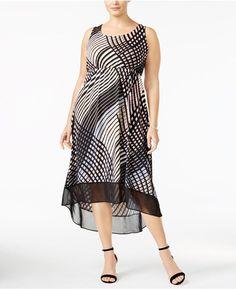 ade18dd37b2a  20 Plus Size Printed High-Low Maxi Dress Beautiful Maxi Dresses