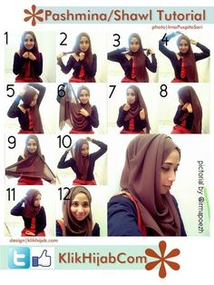 hijab tutorial for round face ; hijab for round face ; hijab style for round face Islamic Fashion, Muslim Fashion, Hijab Fashion, Fasion, Hijabs, How To Wear Hijab, Hijab Style Tutorial, Stylish Hijab, Hijab Collection