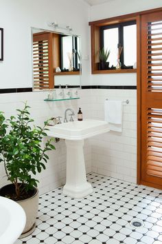 Consoles pedestal sink and sinks on pinterest for Queenslander bathroom designs