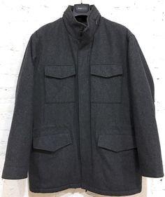 J. Crew Coat Size Medium Wool Blend Solid Gray Multi Pockets #JCrew #BasicCoat