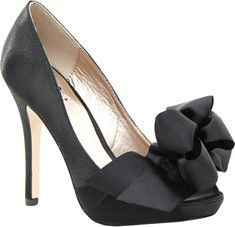 This classic satin peep toe pump is ideal for any special occasion. Its elegant chiffon wrap and bow on the vamp is perfect for a bride, bridal party, or dressy event. You don't want to miss out on this style!