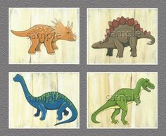 "Dinosaur Kids/boys Nursery Wall Art Prints (8""x10"", Set of Four), http://www.amazon.com/dp/B00CHRPSWY/ref=cm_sw_r_pi_awdm_FPQUwb04YR8QF"