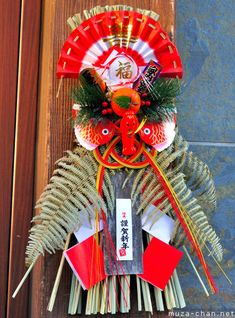 Traditional Japanese New Year decorations, Shimekazari Japanese Culture, Japanese Art, Traditional Japanese, Japanese Things, Japanese Colors, Japanese New Year, Chinese New Year, New Year's Eve Crafts, New Years Traditions