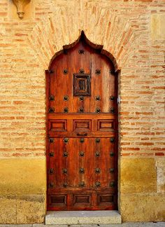Beautiful wood door. Córdoba, Spain.