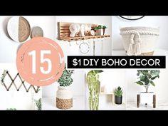 Dollar Tree Vases, Dollar Tree Decor, Dollar Tree Crafts, Diy Home Decor Projects, Diy Home Crafts, Diy Nursery Decor, Room Decor, Boho Dekor, Boho Diy