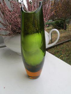 Vintage Vasen - WMF Vase Erich Jackmann Bernstein u.Grün Retro - ein Designerstück von Sophie-Dumont bei DaWanda