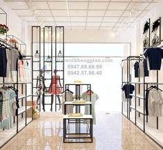 Thiết kế shop thời trang nữ thoáng và rộng rãi