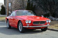 1964 MASERATI SEBRING COUPE RARE CARBURETED EDITION RED TAN WIRE WHEELS EXCELLENT INSIDE & OUT. For only $169,500. Phone # 718-545-0500.