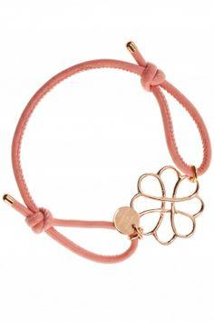dalia lederarmband fuer damen rosa pastell sterling silber rose vergoldetla