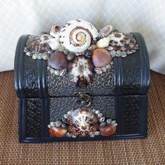 ❥ seashell treasure box