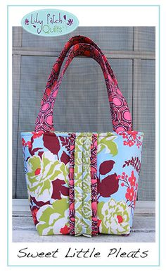 The Sweet Little Pleats PDF Tote Bag Pattern. $9.00, via Etsy. Bag is made using Joel Dewberry's Heirloom fabric collection.