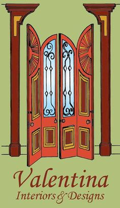 One of my door designs became the logo of my company. ©Drawing by: Valentina Cirasola.    http://valentinaexpressions.com/