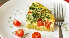 Slow cooker breakfast casserole  is loaded with protein, fiber, calcium and iron from the quinoa, eggs, tomato, spinach and cheese. Make it on Sunday and have morning meals for days, or turn it into breakfast for dinner.