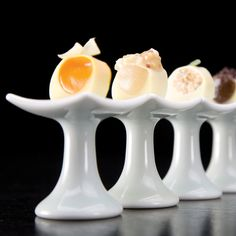 Sectional Pedestal $7.00 >> Love these! What a fun way to highlight small foods.