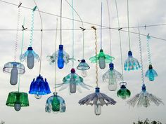 recycled plastic bottles...art...jelly fish