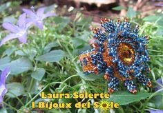 Anello Nymphea cerulea topaz&blue: Il Particolare della fascetta