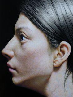 Taisuke Mohri, Skin Portrait # 2, pencil on paper, 73x73cm, 2013 (DETAIL)