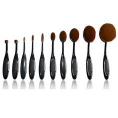 Oval Brush 10 Piece Set