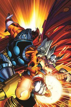 Thor vs Beta Ray Bill by Walter Simonson