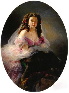 1858 Varvara Dmitrievna Rimskaia-Korsakova (1833-1878), née Mlle Mergasova by Franz Xaver Winterhalter (Savitkoy Gallery - Penza, Russia) | Grand Ladies | gogm