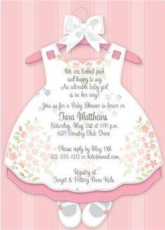 Baby Girl Dress shower invitation