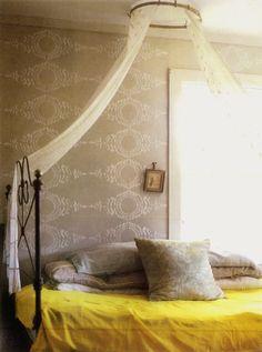 Mellow yellow round-up. Cozy Bedroom, Bedroom Decor, Bedroom Ideas, Decor Room, Bedroom Wall, Master Bedroom, Wall Decor, Yellow Bedding, Bedrooms