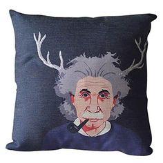 Smart Thinking Cotton/Linen Decorative Pillow Cover 033 - USD $ 11.99