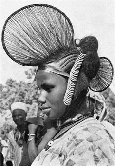 Africa | Fulani (Peul) woman from Fouta Djallon, central Guinea || ©unknown