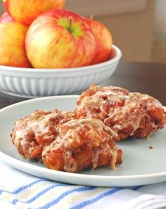 apple fritters...yum! I think I'm the only one in the family to like these but when you get a good one...one that isn't burnt on the outside like some I've had (and still eaten because I hate to waste a donut), it's magic! It's like a cross between apple pie and a cake doughnut.