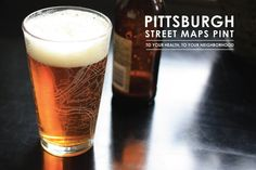Pittsburgh Street Maps Pint