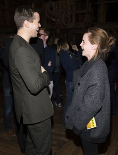 Pin for Later: 16 Stars Who Have Fallen Under the Magical Spell That Is Emma Watson Andrew Rannells couldn't stop laughing.