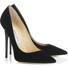 Jimmy Choo Anouk Patent Leather Point-Toe Pumps as seen on Rosie Huntington-Whiteley