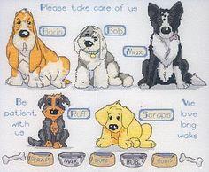 Schema punto croce Cani Insieme-1