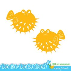 Puffer Fish Vinyl Wall Decal for an Under the Sea or Ocean Nursery, Kids, Childrens Room on Etsy, $18.00
