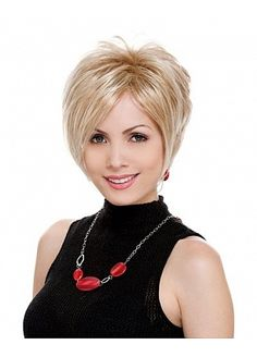 Stylish Short Straight Hand Tied Full Lace 100% Human Hair Perfect Wig by Joy Lee