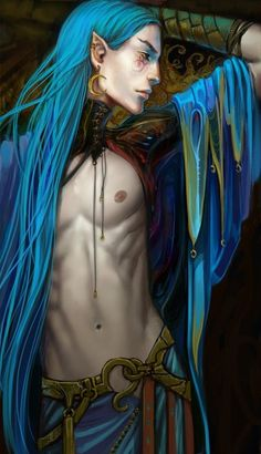 My male dark fantasy characters often have longer hair than the female. I like to switch it up. The male characters in my Merging Worlds series generally have colorful long hair.
