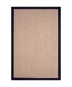 Hand-woven Jute Black Rug (8 x 10)