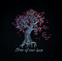Tree of Our Love Tote Bag by ScarftasticCreations on Etsy