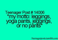 No jeggings for me (because I hate anything having to do with jeans;) but yes!