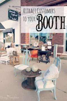 """Here are some tips for setting up your craft/furniture """"shop"""" or tent to attract customers and make sales"""