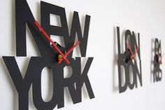 goodwin + goodwin typographic time zone clocks