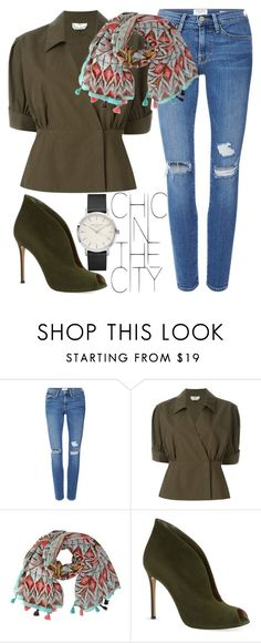 """Chic in the city"" by mareehamasood246 ❤ liked on Polyvore featuring Frame Denim, Fendi and Gianvito Rossi"