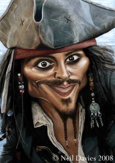 Johnny Depp as Captain Jack Sparrow..you have to look at this board! too much funniness! LOL