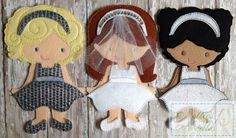 Going To The Chapel The Bride and her by NettiesNeedlesToo on Etsy, $25.00