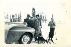 Franklin Gardner family on a winter drive.